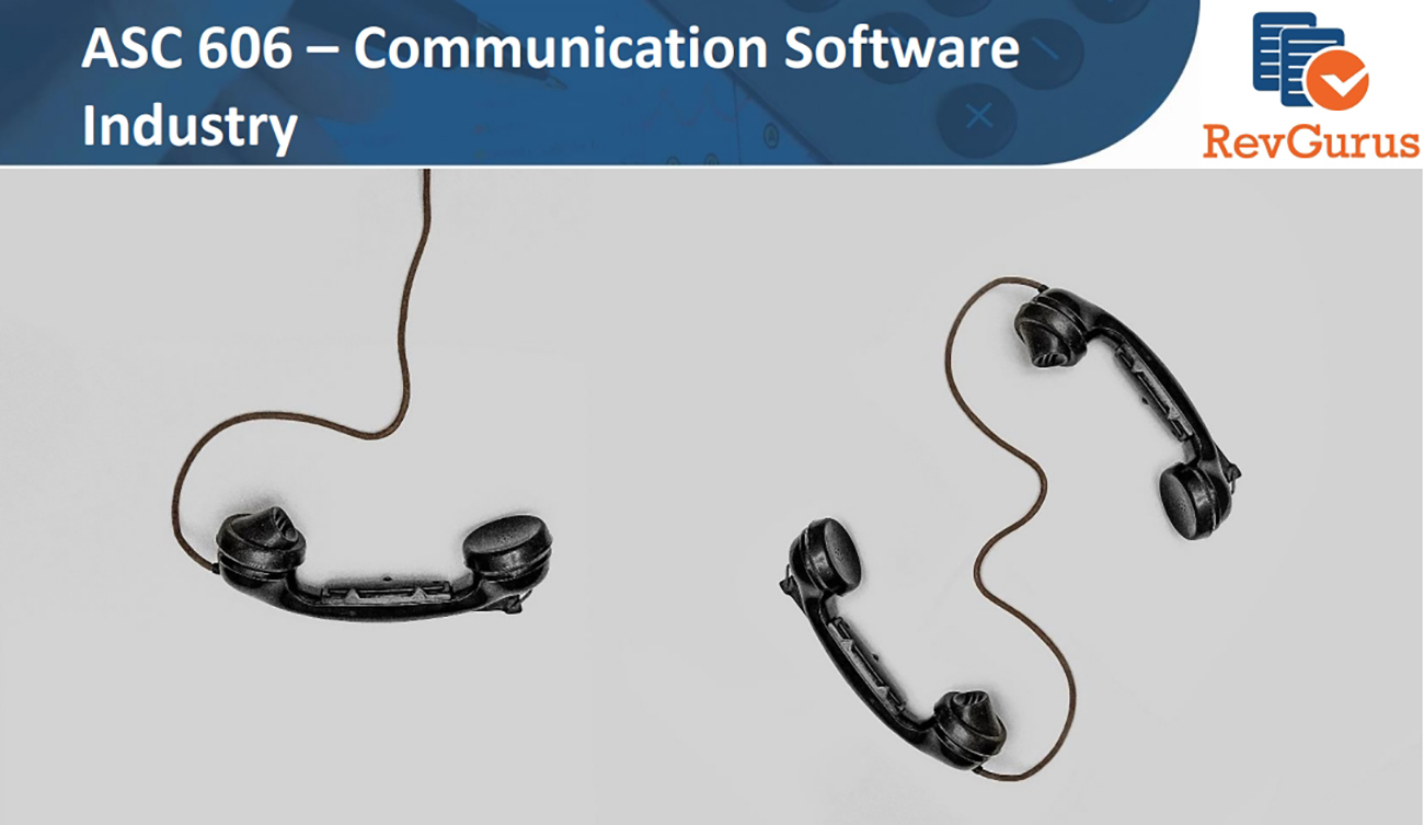 asc 606 communication software industry